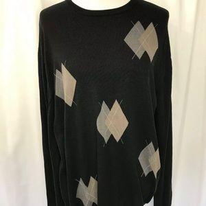 Alan Flusser Silk/ Cotton  Argyle Sweater